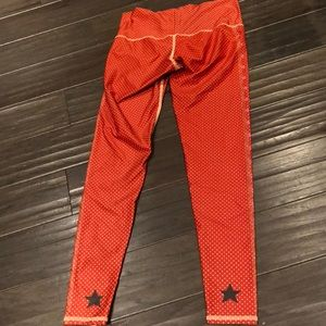 ❤️ TEEKI polka dot cowgirl red hot pants leggings